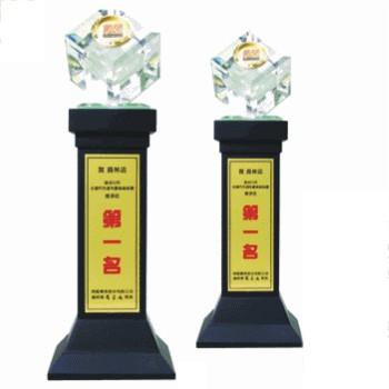 獎座型木座水晶WA-196-1水晶木座
